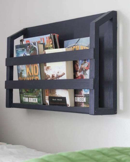 Build a Bedside Bookshelf using free plans.