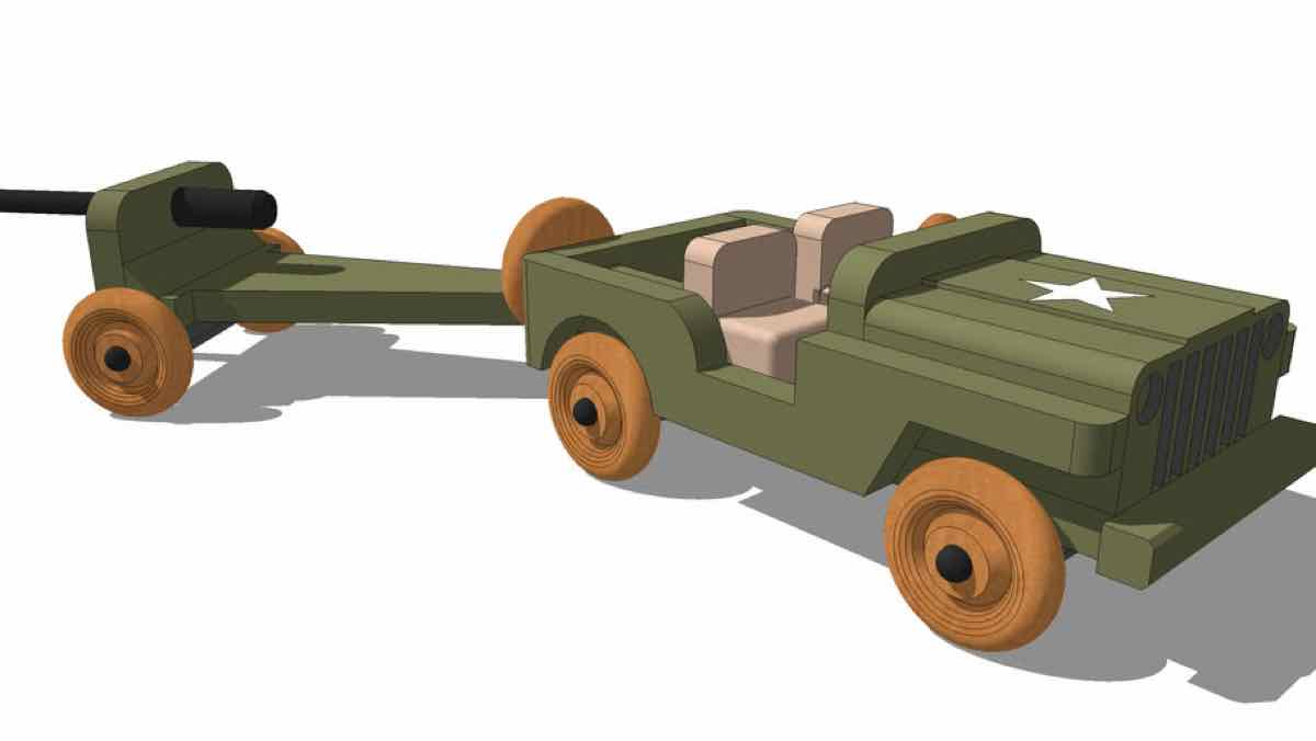 trucks,toys,sketchup,Google 3D,3-D warehouse,cannons,childs,childrens,kids,furniture,drawings,free woodworking plans,projects,do it yourself,woodworkers