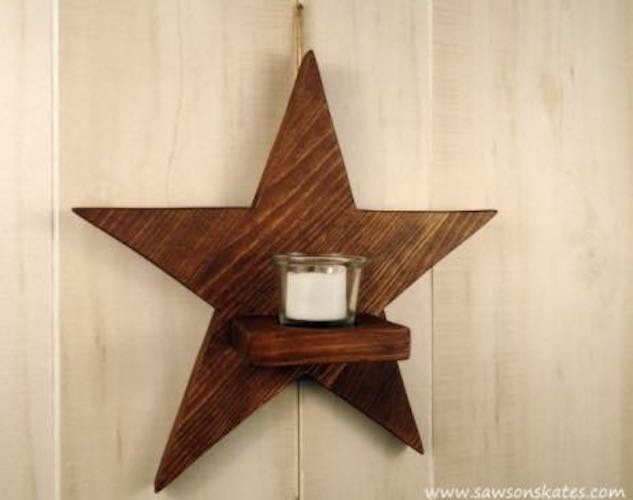 Star Candle Sconce