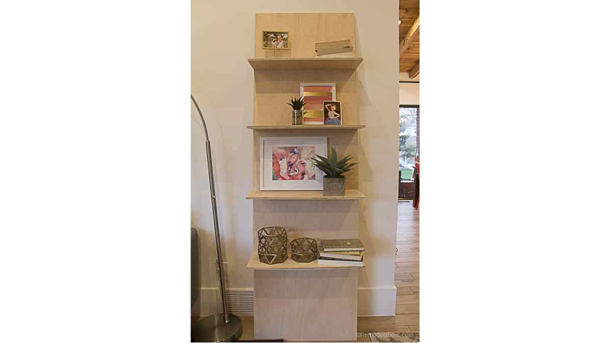 leaning shelves,plywood,diy,free woodworking plans,free projects,do it yourself