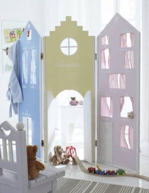 Free plans to build a Playhouse Room Divider.