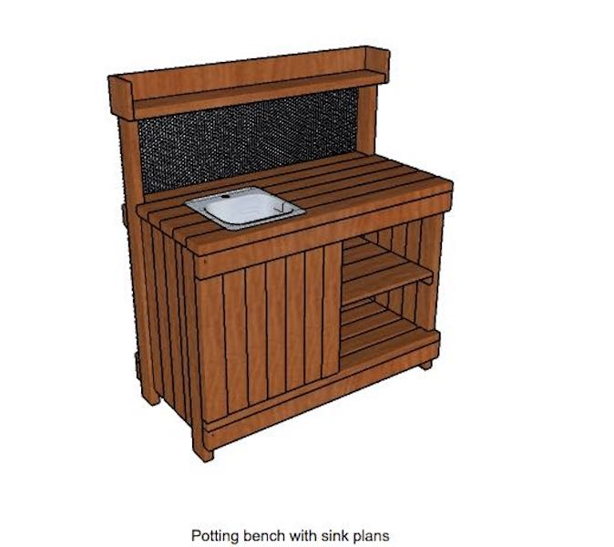 Build a Potting Bench With Sink using free plans.