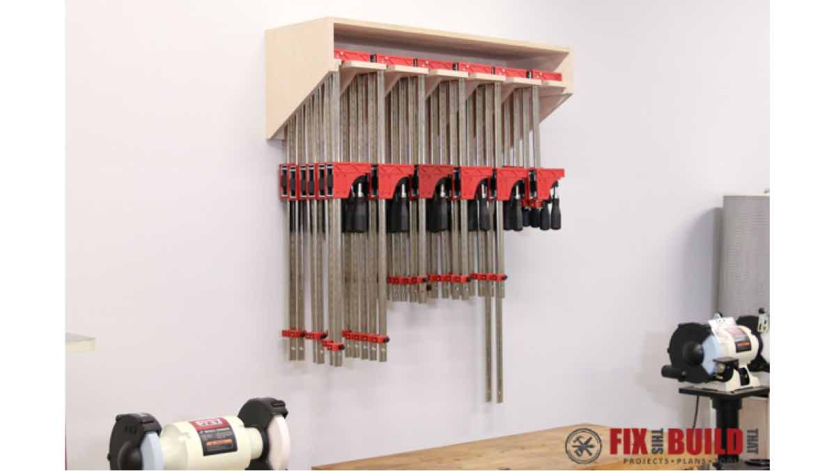 clamp racks,diy,free woodworking plans,free projects,do it yourself