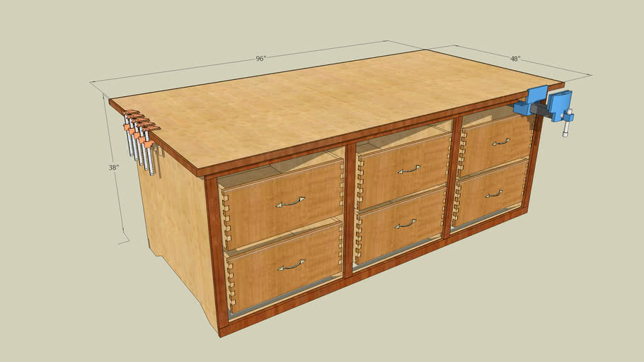 how to build a Large Workbench free project