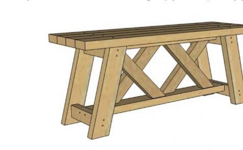 Free plans to build a Double X Bench.