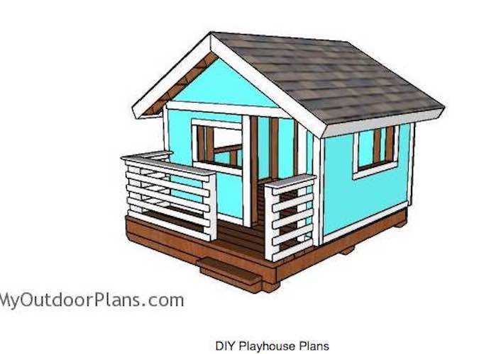 Free plans to build a playhouse.