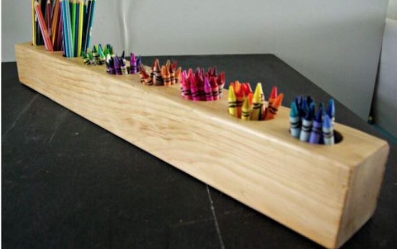 Build an easy Art Supply Organizer using free plans.
