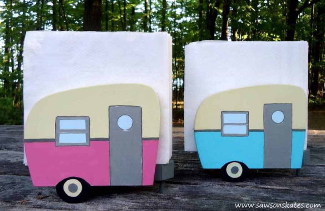 Build a Camper Napkin Holder using free plans.