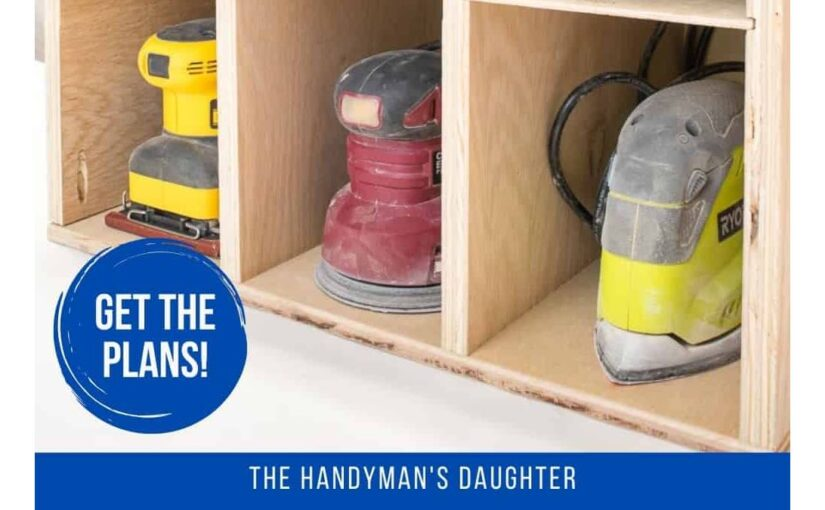 Sander and Sandpaper Storage Unit