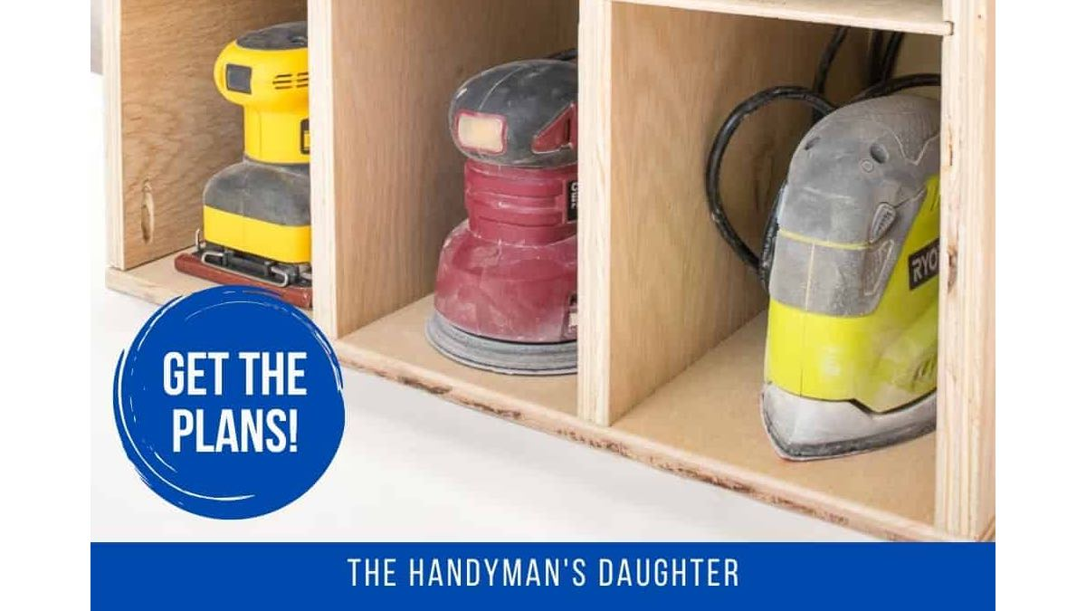 Sander and Sandpaper Storage Unit Free Woodworking Plans