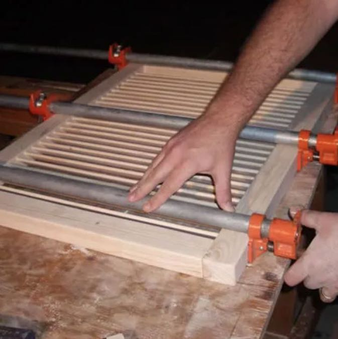 Learn how to build Louvered Doors and Window Shutters using free plans.