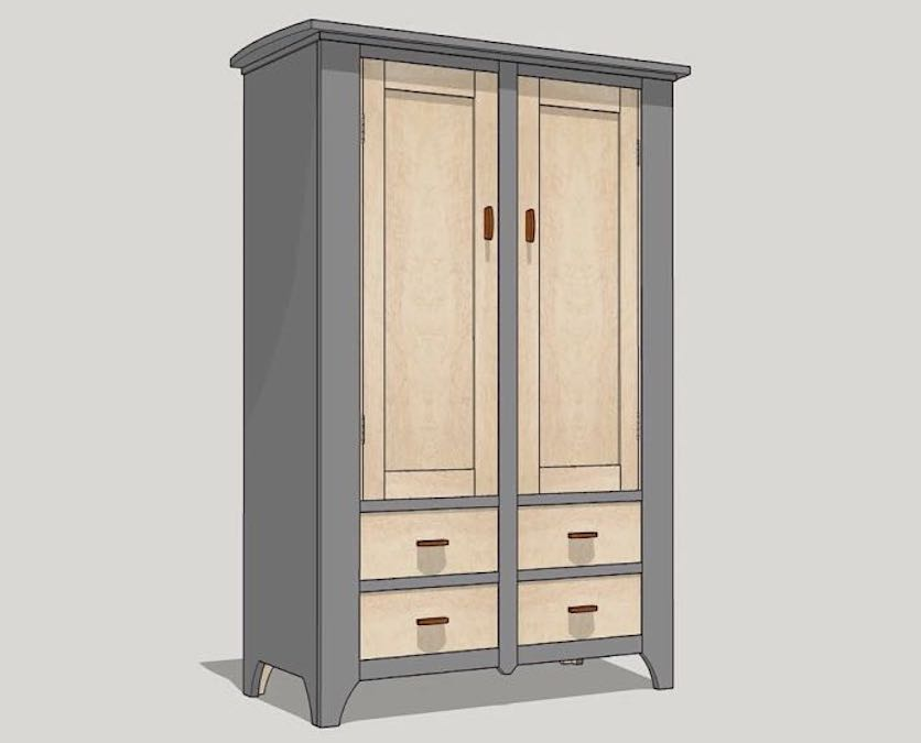 Build this Kitchen Cupboard Cabinet using free plans.
