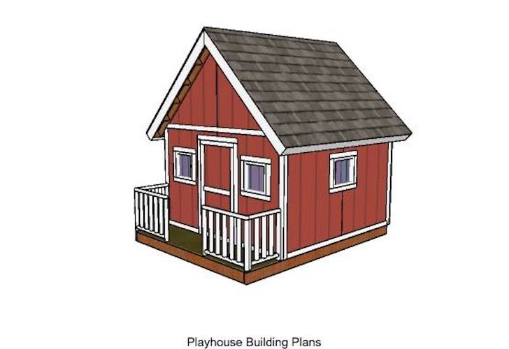 Free plans to build a Playhouse With Front Porch.