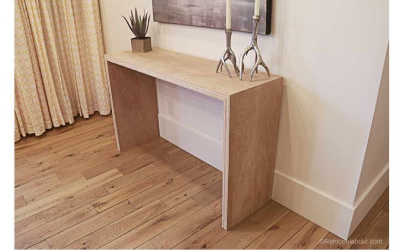 Waterfall Edge Console Table