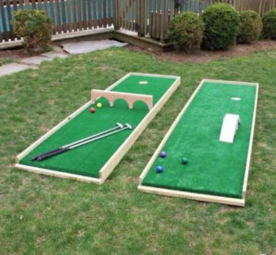Free plans to build a Mini Putt Course.
