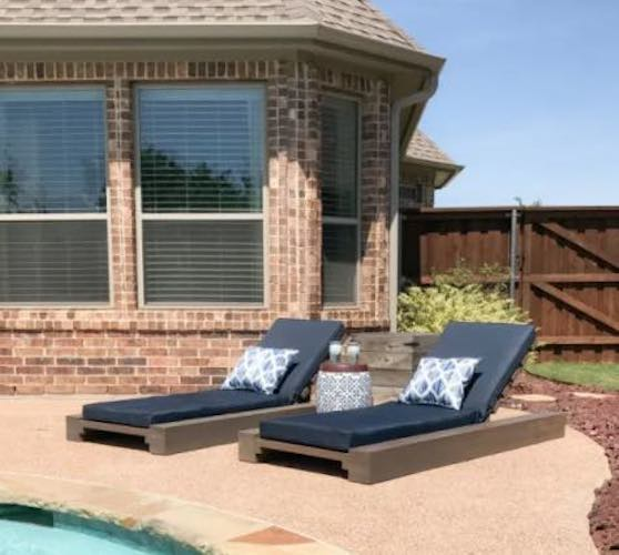 Build a Chic Outdoor Lounge Chair using free plans.