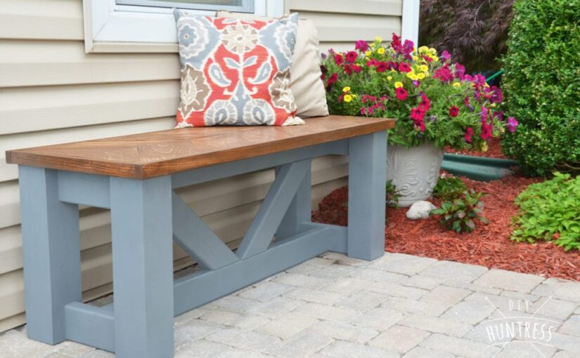 Learn how to build a Chevron Bench with free plans.