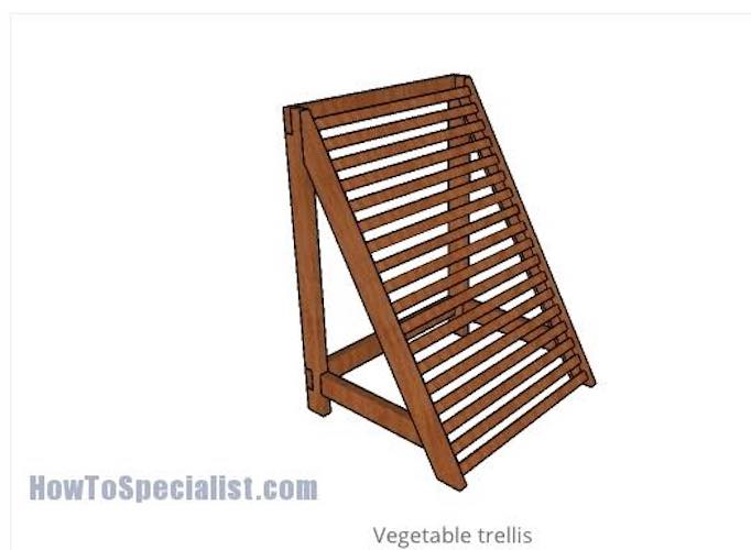 Free plans to build a Vegetable Trellis.