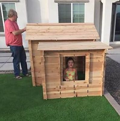 Build a Portable Playhouse using free plans.