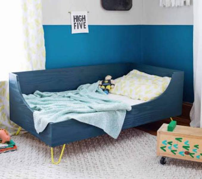 Build a Toddler Bed using free plans.