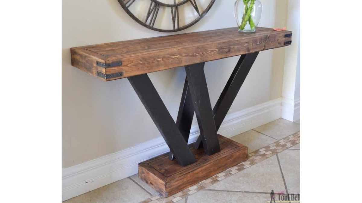 console tables,furniture,diy,free woodworking plans,free projects,do it yourself