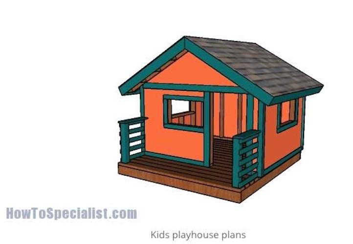 Build a Playhouse For Children using free plans.