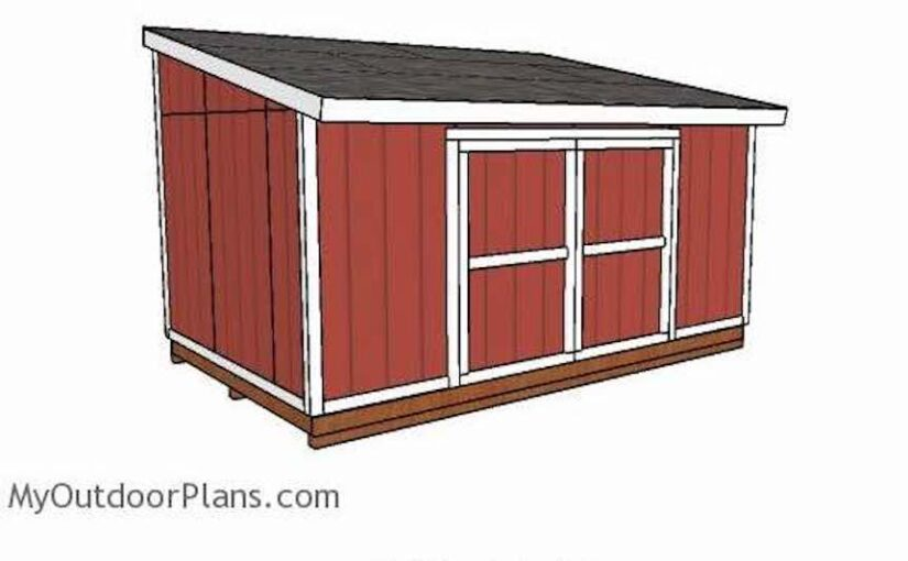 Free plans to build a Lean To Shed.
