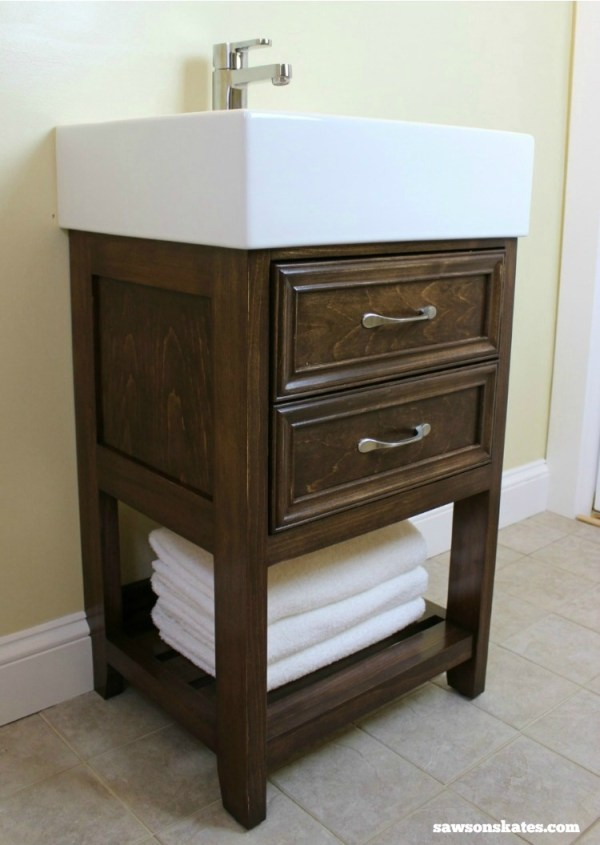 How to build a small Bathroom Vanity.