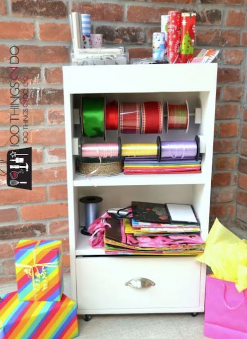 Build a Gift Wrap Station using free plans.
