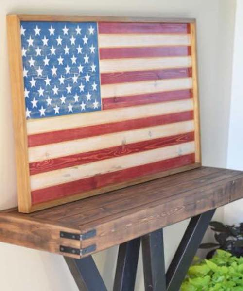Build a Patriotic Flag using free plans.