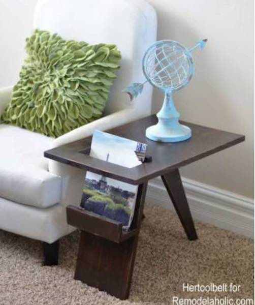 Free plans to build a Magazine Rack/Table.