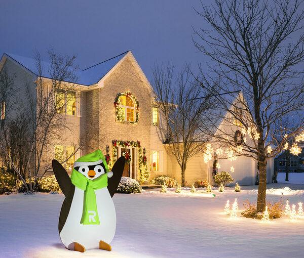 Holiday Penguin Yard Art