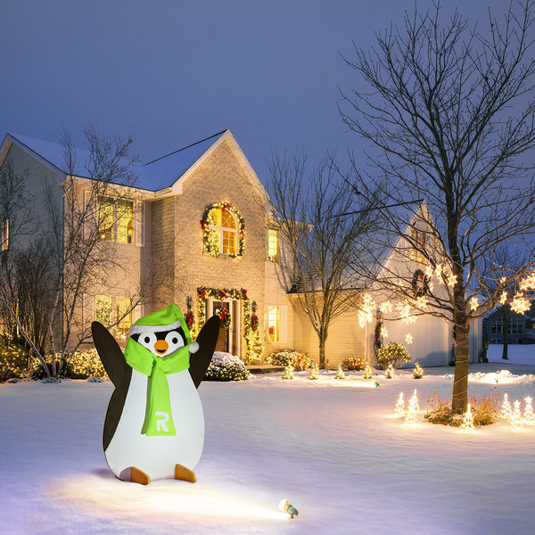 How to build a Holiday Penguin Yard Art free project