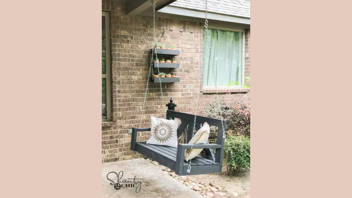 porch swings,hanging swings,diy,free woodworking plans,free projects,do it yourself