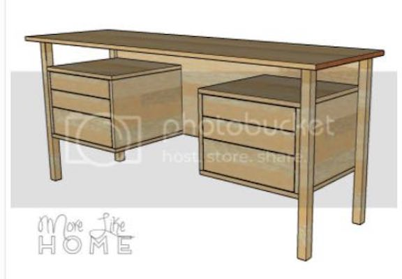 Build a MCM Floating Top Desk using free plans.
