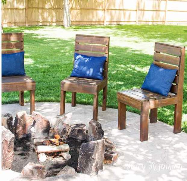 Build a few Inexpensive Outdoor Chairs using free plans.