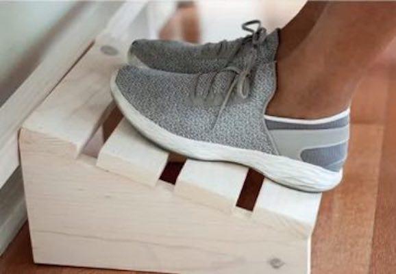Build a Footrest using free plans.