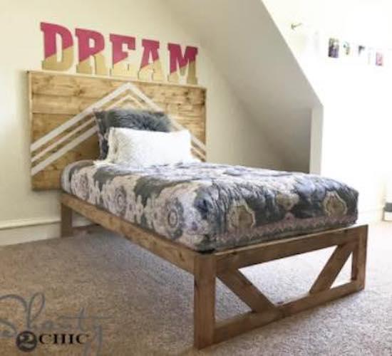 Free plans to build a kids Platform Bed.