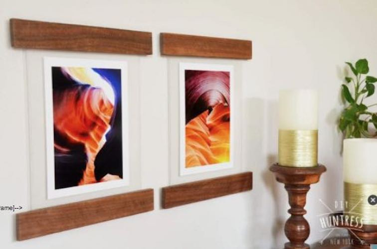 Build Floating Picture Frames using free plans.