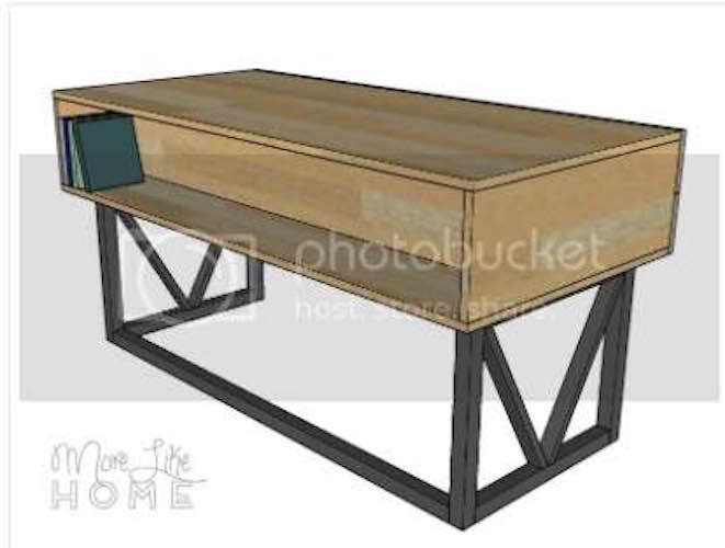 Build this Unique Desk using free woodworking plans.