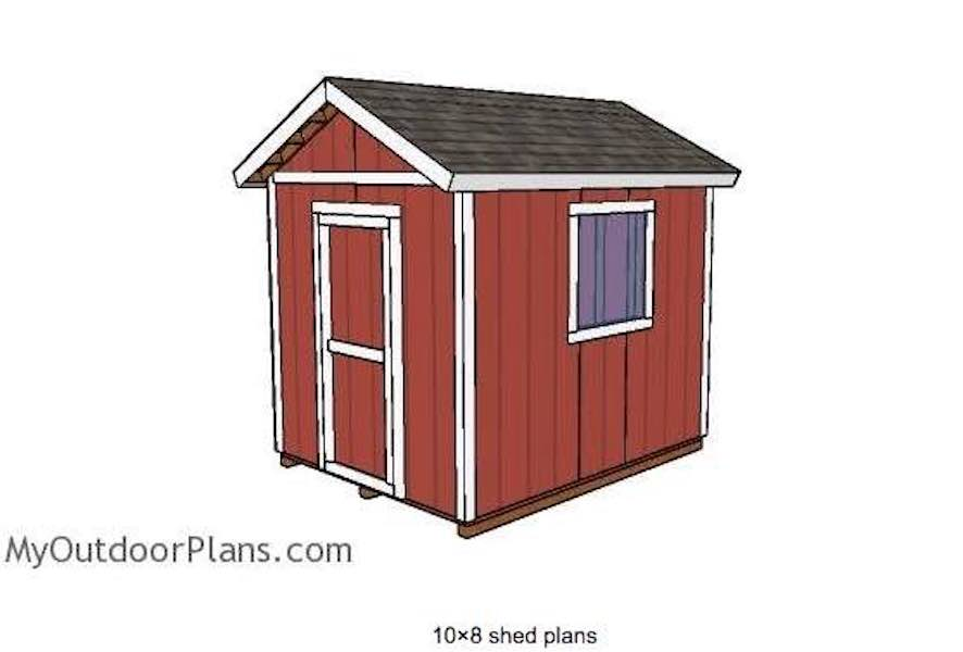 Free plans to build a Shed 8 x 10.