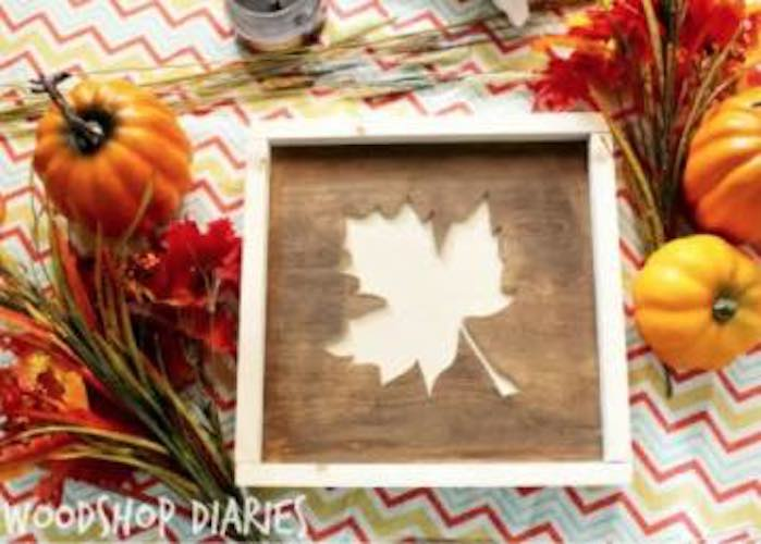 Build a Fall Sign from Scrap Wood.