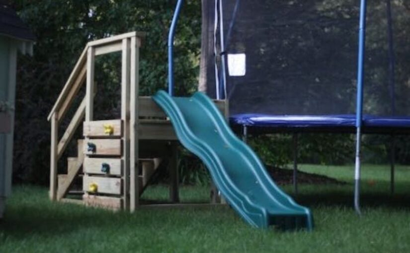 Trampoline Stairs with Slide PDF