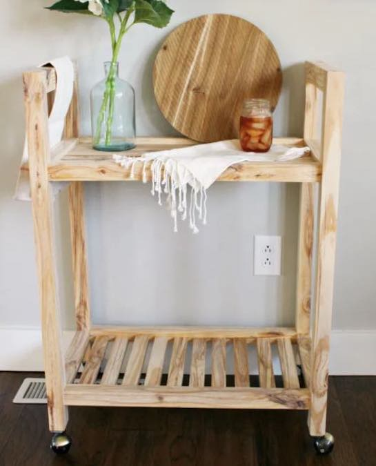 Build a Small Bar Cart using free plans.