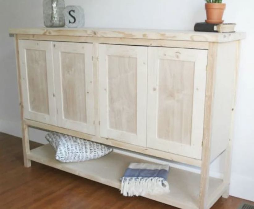 Free plans to build a Console Cabinet.