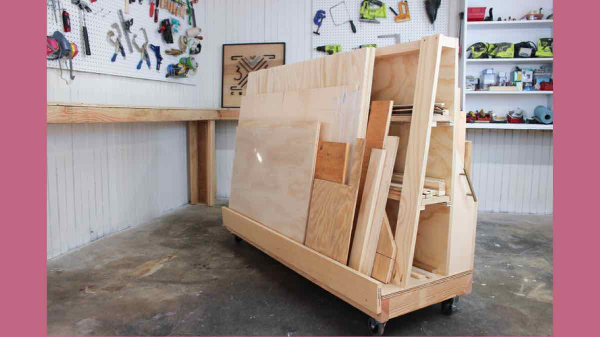 lumber storage,lumber carts,wood storage,diy,free woodworking plans,free projects,do it yourself