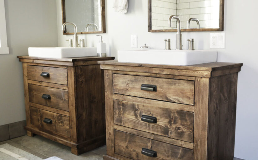 Rustic Vanity for the bathroom free plans.