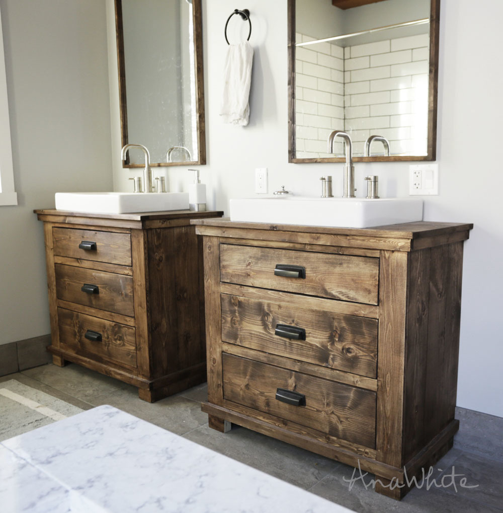 Rustic Vanity for the bathroom free plans.