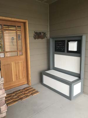 Build a Entryway Bench with storage using these free plans.