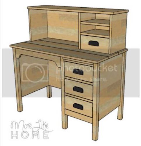 Build a Desk with Hutch using free plans.